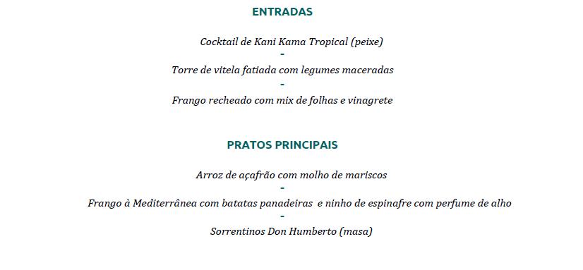 menu humberto m