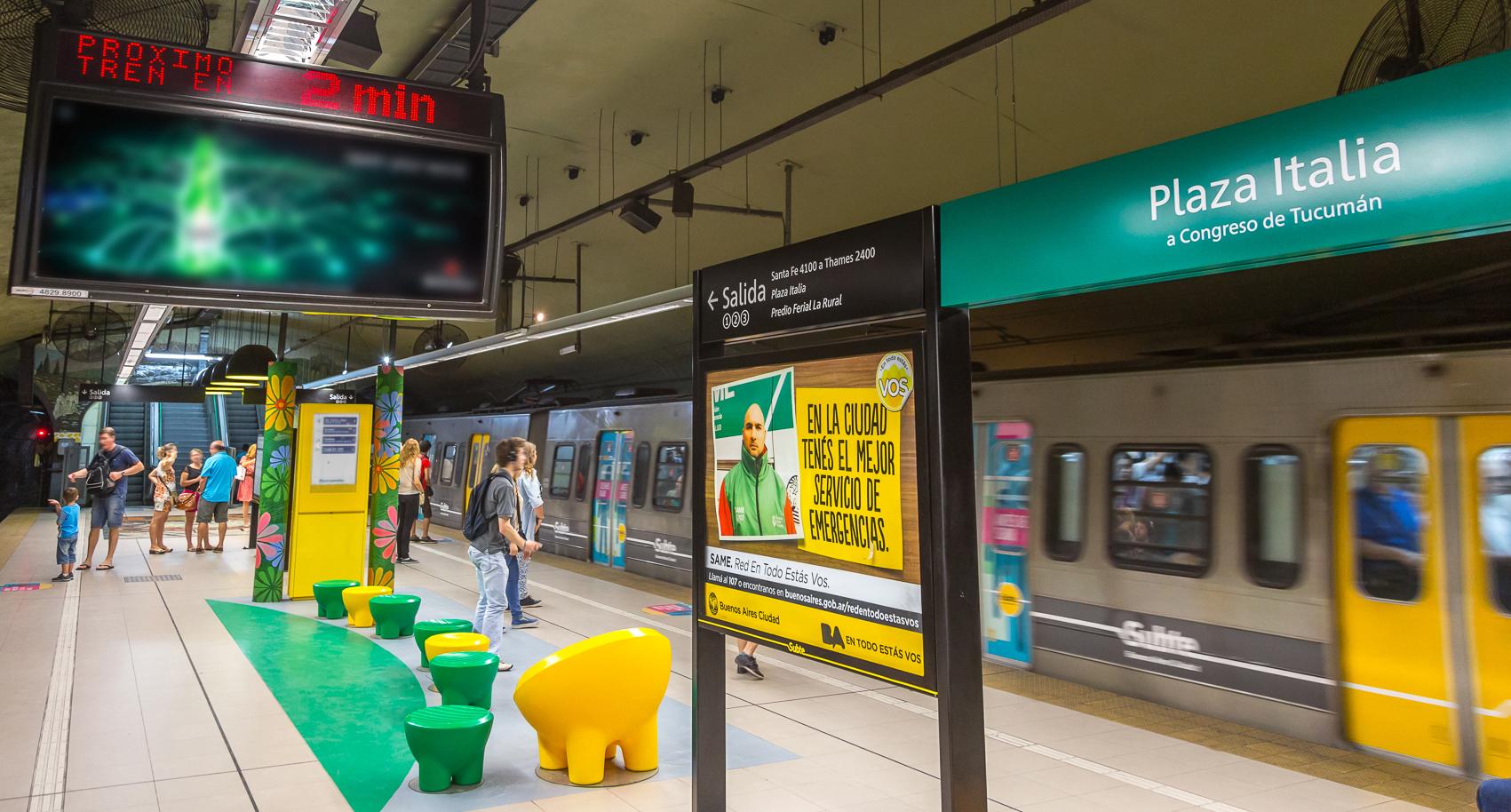 metrô_em_Buenos_Aires_linha_D_em_movimento