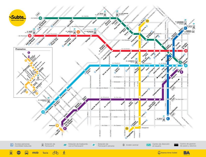 metrô_em_Buenos_Aires_mapa