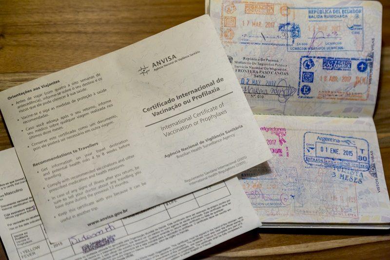 Certificado de vacina na Argentina
