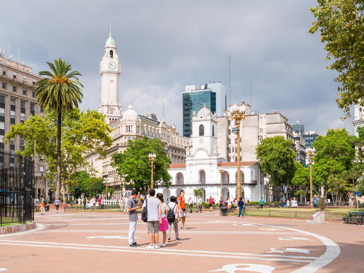cartões postais de Buenos Airesfamília