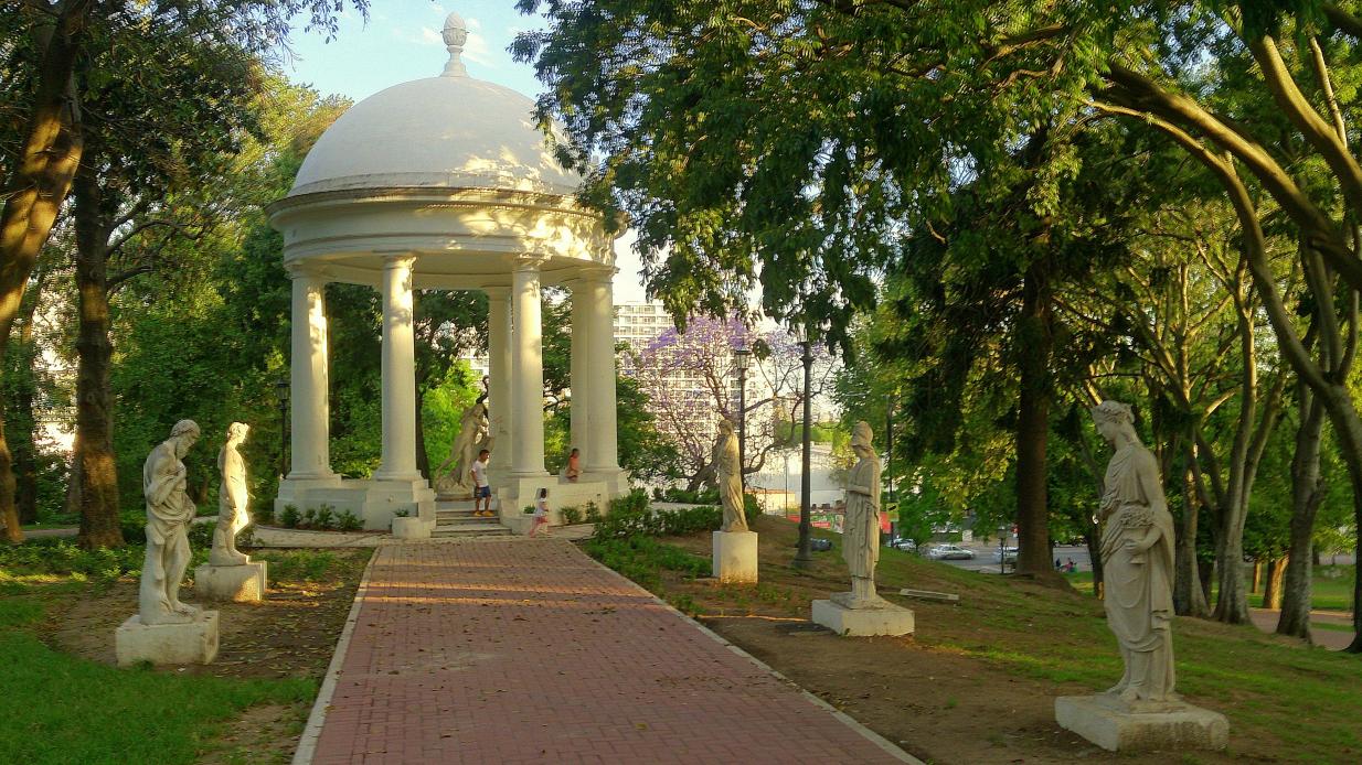 Parque Lezama em Buenos Aires