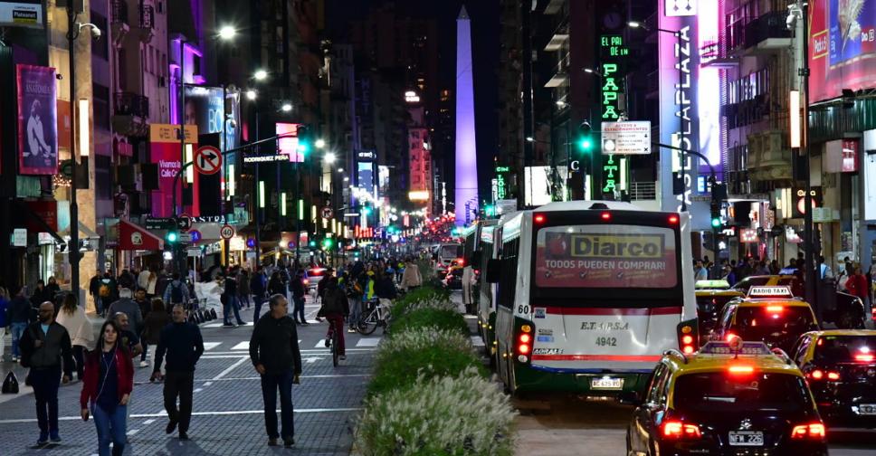 Avenida Corrientes para pedestres